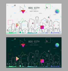 linear trendy of a big city vector image
