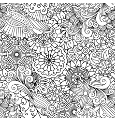 Ornamental background composed of floral elements vector image vector image