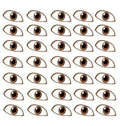 pattern of dark eyes vector image