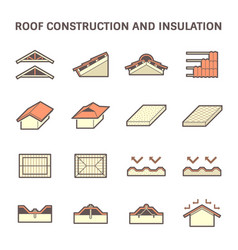 Roof construction icon vector