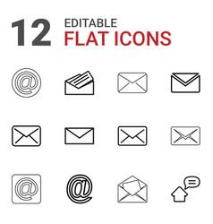 12 address icons vector