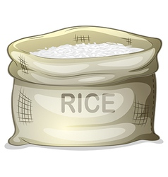 A sack of white rice vector