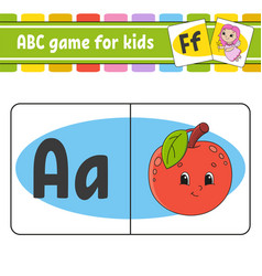 Abc flash cards alphabet for kids learning vector