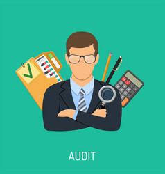 auditor and accounting concept vector image