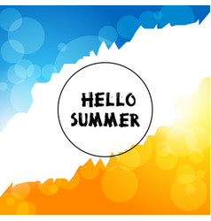 Background summer day vector