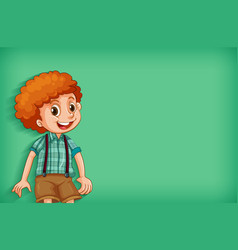 Background template design with happy boy smiling vector