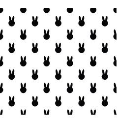 background with rabbit rabbit seamless pattern vector image