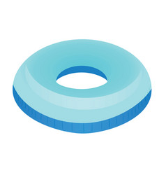blue swim ring vector image