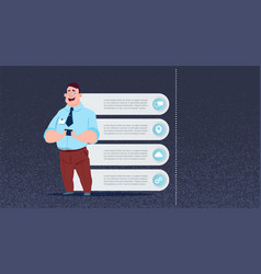 business man infographics set copy space for vector image