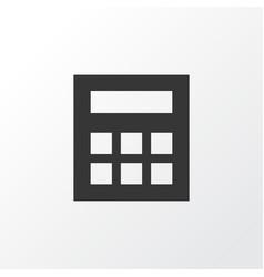 Calculator icon symbol premium quality isolated vector