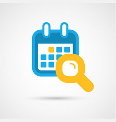 Calendar icon - search vector