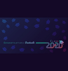 Class 2020 colored lines design vector