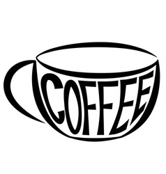 Cup with text vector