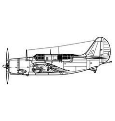 Curtiss sb2c helldiver vector
