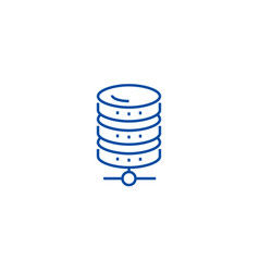 database network line icon concept database vector image