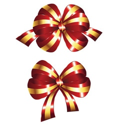 Decorative Red Bow vector image