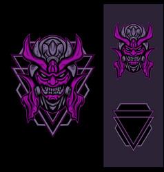 demon toxic mask vector image