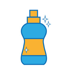 Detergent liquid plastic bottle to clean house vector