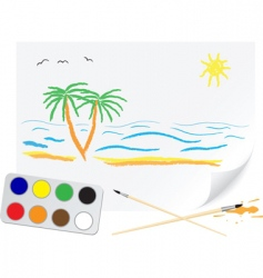 drawing summer vector image