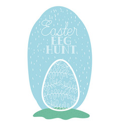 egg painted easter with hand made font in the vector image