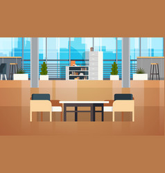 empty coworking space interior modern coworking vector image
