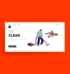 every day routine weekend chores landing page vector image