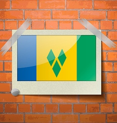 Flags Saint Vincent Grenadines scotch taped to a vector