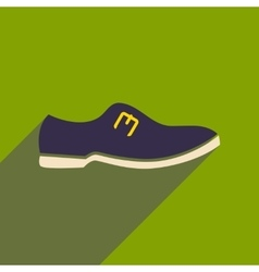 Flat icon with long shadow men shoes vector