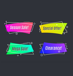 flat linear promotion vivid banner scroll price vector image