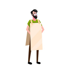 flat protester vector image