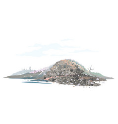 Garage dump concept landscape isolated vector
