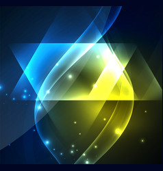 glowing geometric shapes vector image