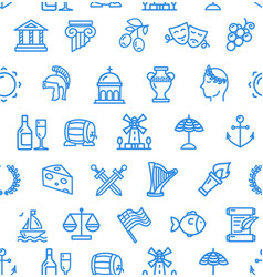 greece signs seamless pattern background on a vector image