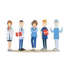 group of medical doctors in vector image