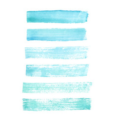 hand painted blue grunge brush strokes textures vector image