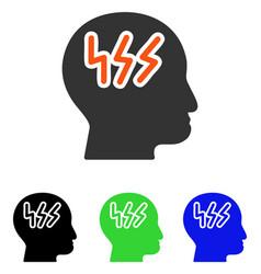 Headache flat icon vector