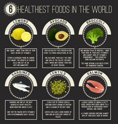 healthiest food in the world vector image
