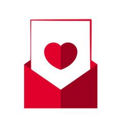 heart letter in an envelope vector image