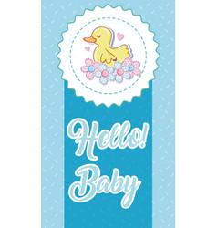 Hello baby card vector