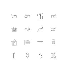 home appliances linear thin icons set outlined vector image