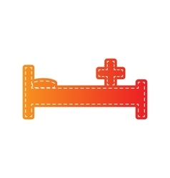 Hospital sign Orange applique vector image
