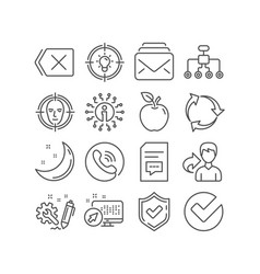 Idea mail and comments icons face detect vector