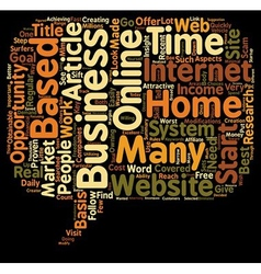 Income Opportunity Home Based Business text vector image