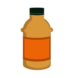 isolated mustard bottle icon vector image