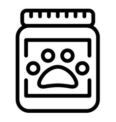 jar dog food icon outline style vector image