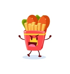Junk Food Cartoon Character vector