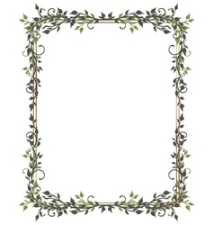 Leaves frame tendril vector
