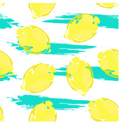 lemon pattern1 vector image