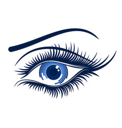 Logo female eye vector