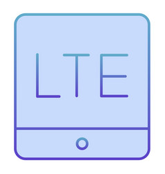 Lte coverage flat icon 4g internet blue icons in vector